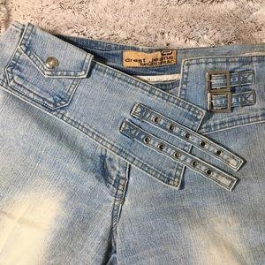 Crest Jeans Wide Leg Light Wash Size 3/4